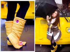 yellow in the city by Lucem