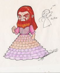Thor in Kayleighs dress by DaggerRavionFall