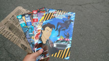 A Ghostbusters And Three Flash Comics by OtakuDude83