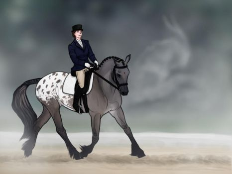 FWEC New Year Show - Bullet in Dressage by strixx-variaa