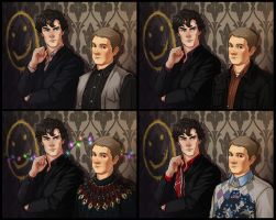Sherlock Set and Omake by JoannaJohnen