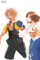 Tidus and Yuna by ToshioHD