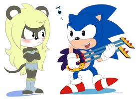 Commission Sonic and Winnie by Domestic-hedgehog