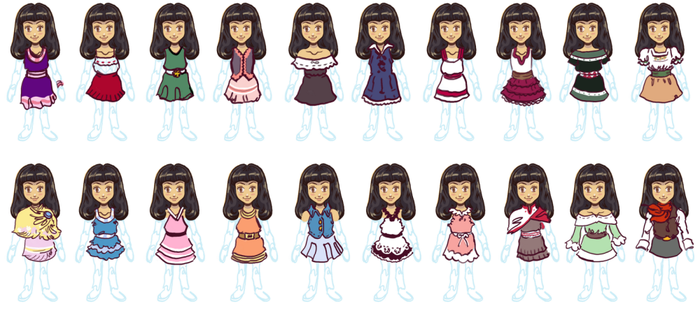 Doll Costume Sheet by burntmoth19