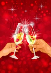 Cheers: Hands toast by MissChatZ