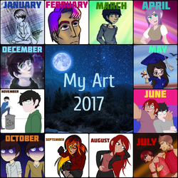 My Art Summary of 2017 by WaterElement33