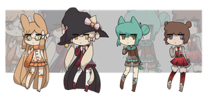 Kemonomimi Chibis [3/4 OPEN] [SET PRICE] by alliemews