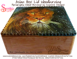 Aslan Wooden Box Lid Woodburning Pyrograph 02 by snazzie-designz