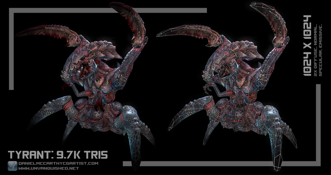 Tyrant Low Poly (Tremulous) by Dandoombuggy