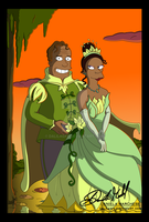 The Princess and The Frog by DalilaGFX