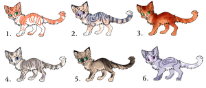 Cat Adoptables by Angelpaw33