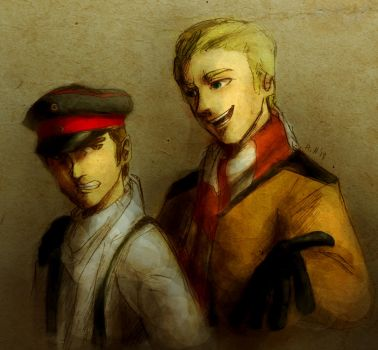 Hans and Otto by Doqida