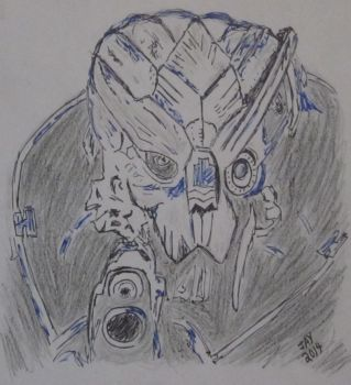 Mass Effect quick sketch (light/dark exercise) by JasonYoungdale