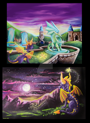 Spyro the Dragon, Fan Made Blankets by Tiyku