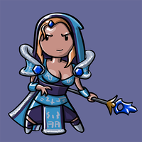 Dota Fanart v2 - Crystal Maiden by KidneyShake
