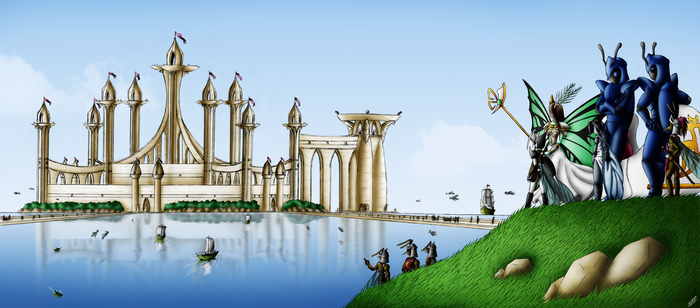 View to the imperial city by Fruit-Sauvage