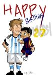 leo messi and thiago messi^^ by Sandra-delaIglesia