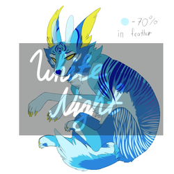 Waterwolf Adoptable Auction [Open] by W-h-i-t-eNight