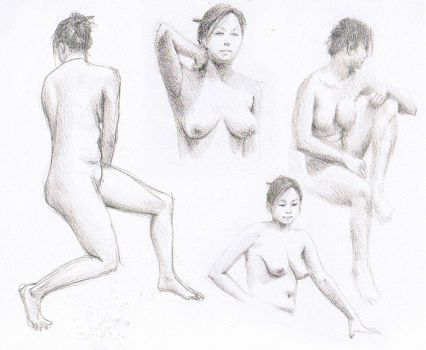 Life Drawing Week 3 by Aerythes