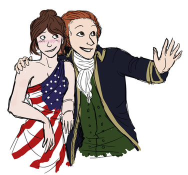 Lafayette and Lady Liberty by Delinquent-Unicorn