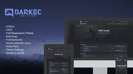 Darkec Responsive Theme by Boban031
