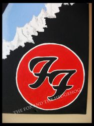 Dave Grohl Foo Fighters Original painting 4 by TheJinMu