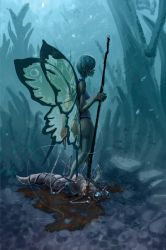 Butterfly Huntress by TheGreatGod