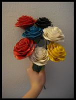 Rainbow of Duct Tape Roses by DuckTapeBandit