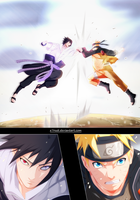 Naruto 694 - Naruto VS Sasuke Full page by X7Rust