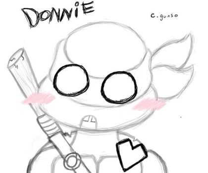 Donatello Doodle by CandyGunso