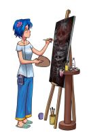 Art student by jjnaas