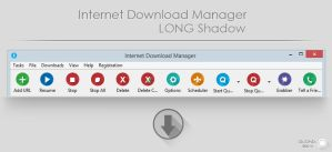 Long Shadow IDM Toolbar theme by QuGhZx