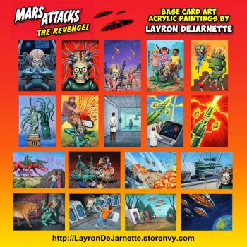 Mars Attacks: The Revenge base card art by LAYRON by DeJarnette
