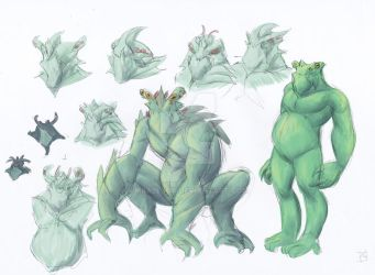 SIDonPARADISE studies n sketches: Monster concept by mrAlejoX