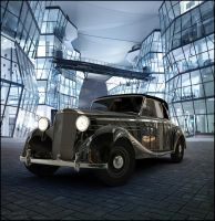 Mercedes 170s 1949  Night scene by AnalyzerCro