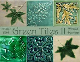 Green Tiles II by WickedDesktop