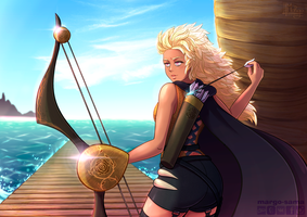 [Commission] On the pier by Margo-sama