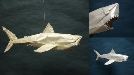Origami Great White Shark By Artist Galen