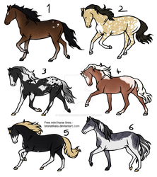 Horse adopts 12 - 15 points Each. CLOSED [0/6] by TheAdoptArtist