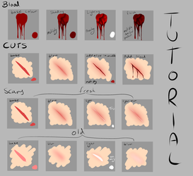 Blood And Cuts Tutorial (paint tool sai) by BabyB01
