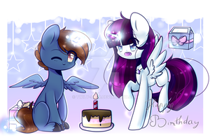 Happy birthday Twily and Headlong  [Gift] by Twily-Star