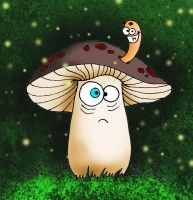 Lonely Mushroom In Fairy Forest by Lavenderwitch