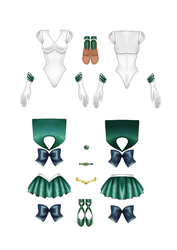 Sailor Neptune Paper Doll part 2 of 2 by starca