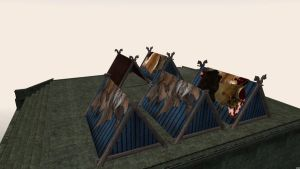 Tent meshes for Morrowind 3 by Berandas