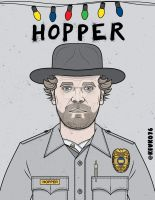 Jim Hopper - Stranger Things by kevko76