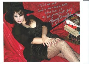 Horror Hostess Penny Dreadful's Autograph by wemayberry