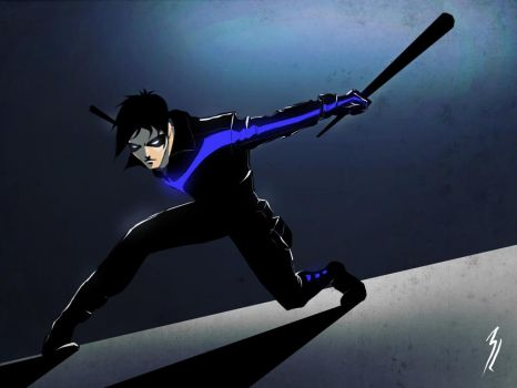 nightwing by TheBabman