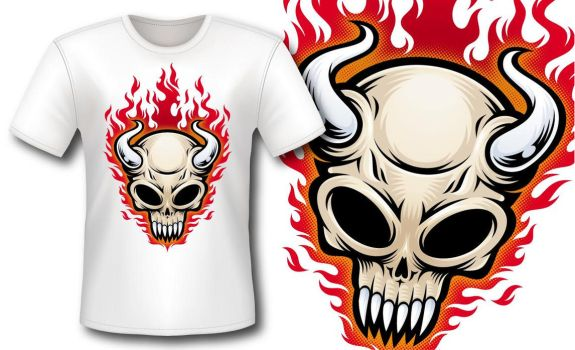Camiseta Skull by manuarts3000
