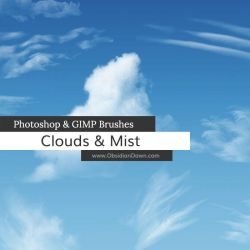 Clouds - Mist Photoshop and GIMP Brushes by redheadstock