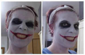 Joker make up test by flames-of-monki